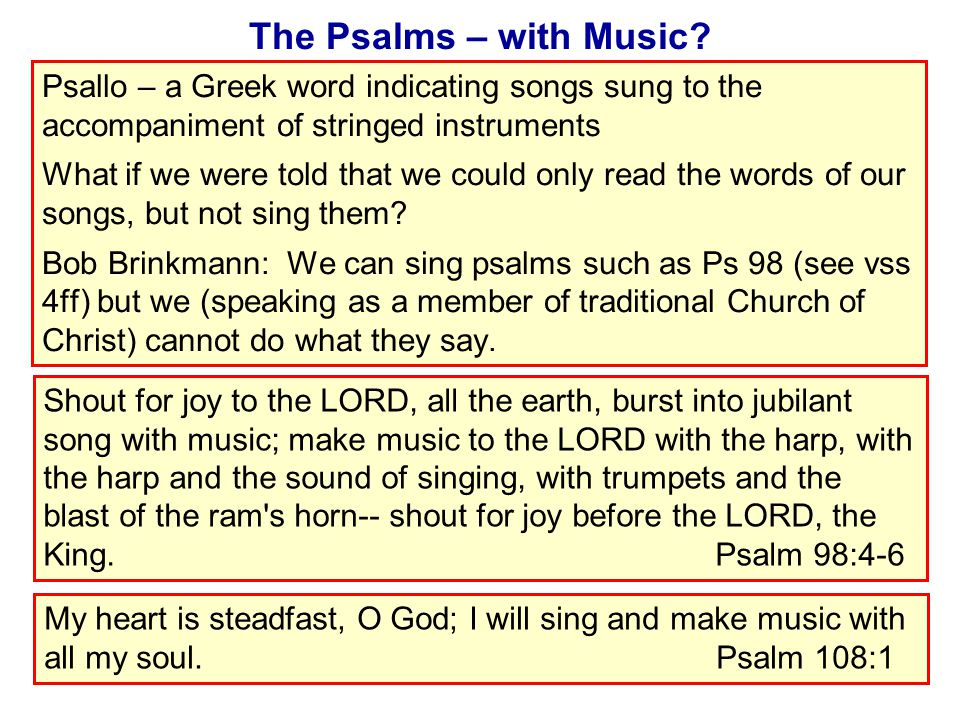 The Psalms – with Music.