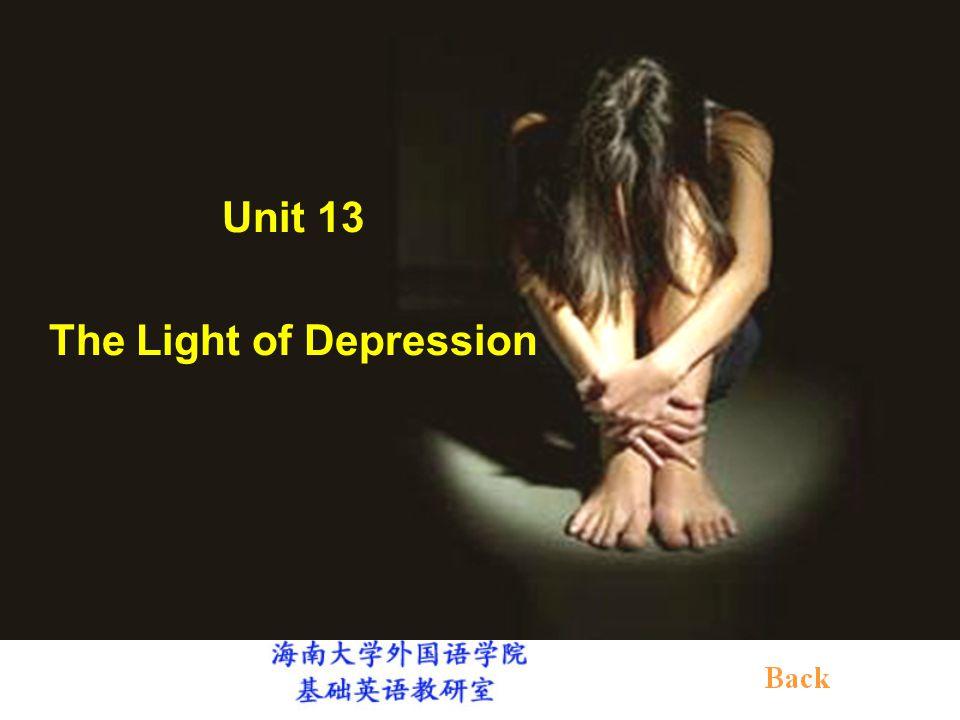 Unit 13 The Light of Depression