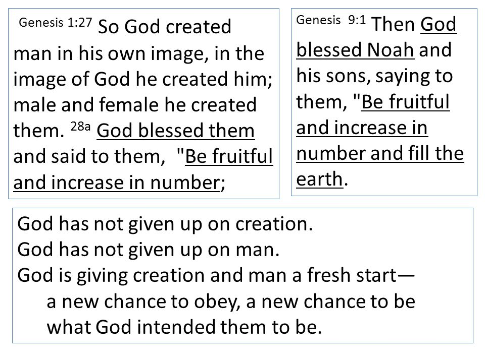 Genesis 1:27 So God created man in his own image, in the image of God he created him; male and female he created them.