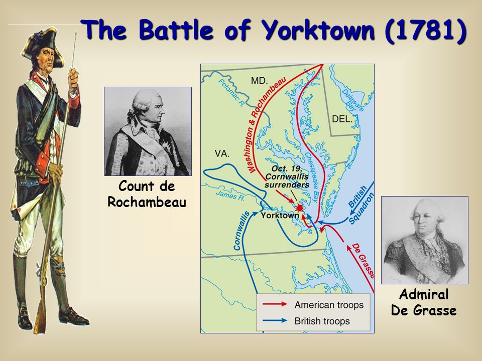 The Battle of Yorktown (1781) Count de Rochambeau Admiral De Grasse
