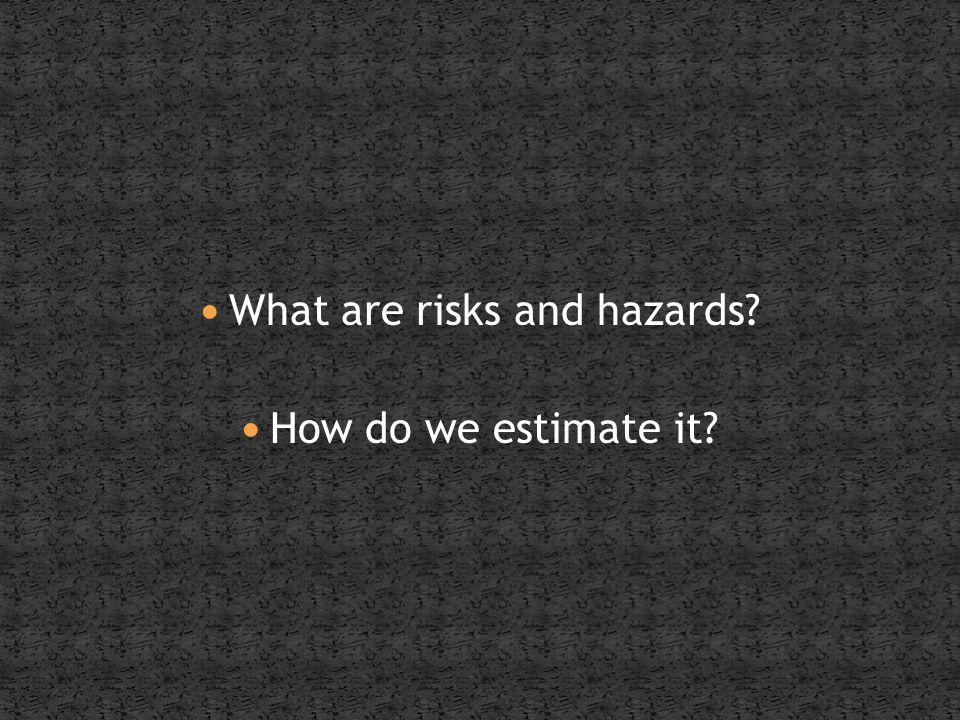Risk as a concept