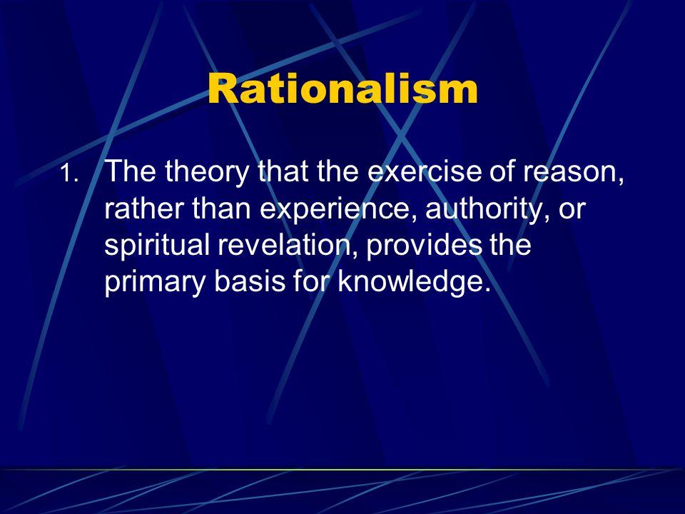 Rationalism 1.