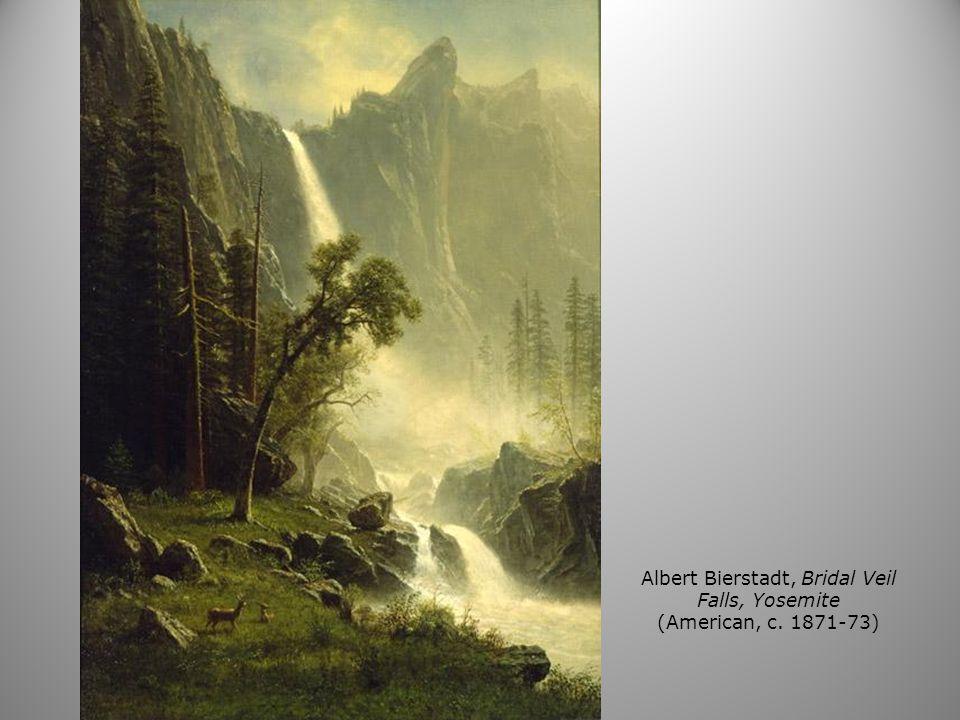 Albert Bierstadt, Bridal Veil Falls, Yosemite (American, c. 1871-73)