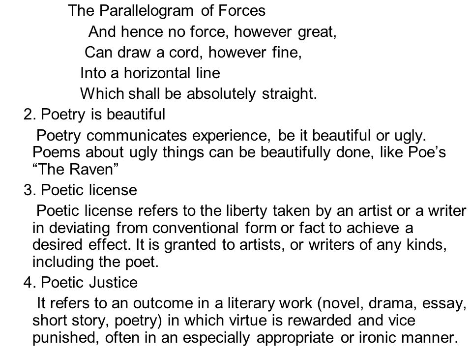 Kinds of Poetry 1.Ballad a.