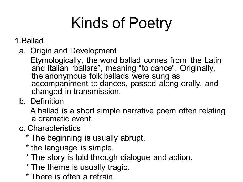 9.Blank Verse Blank verse refers to poems of unrhymed lines, usually written in iambic pentameter.