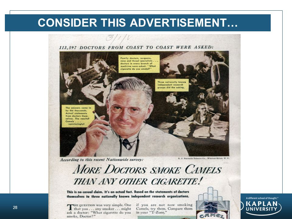 CONSIDER THIS ADVERTISEMENT… 28