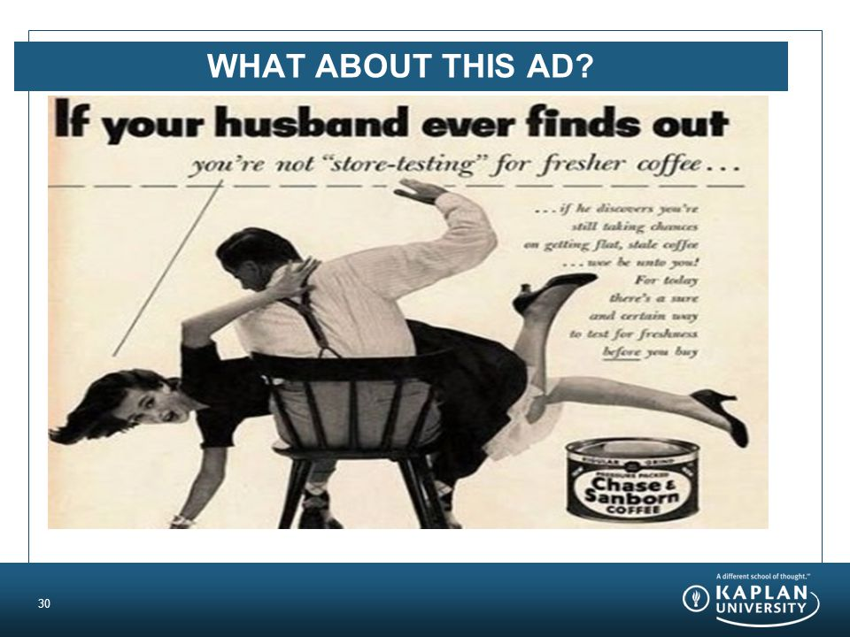 WHAT ABOUT THIS AD? 30