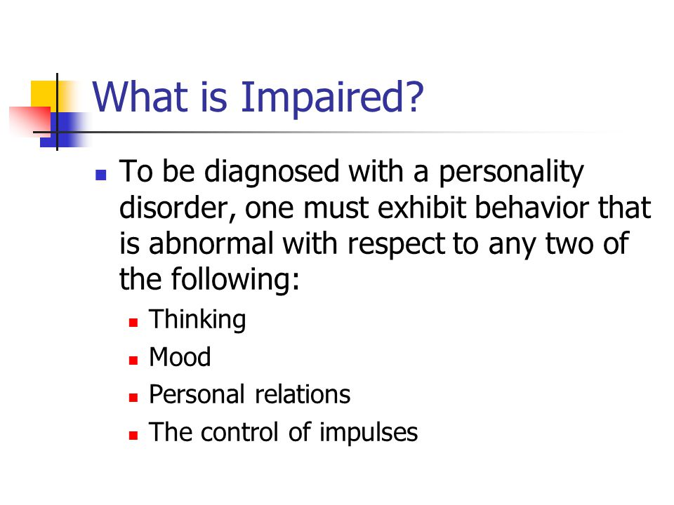 What is Impaired.