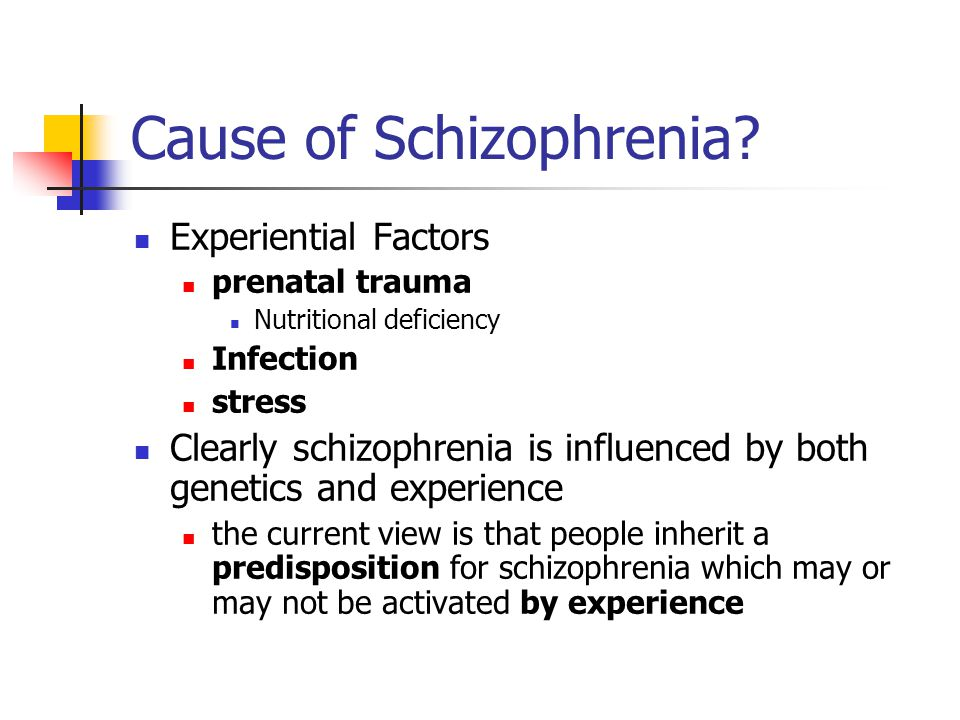 Cause of Schizophrenia.