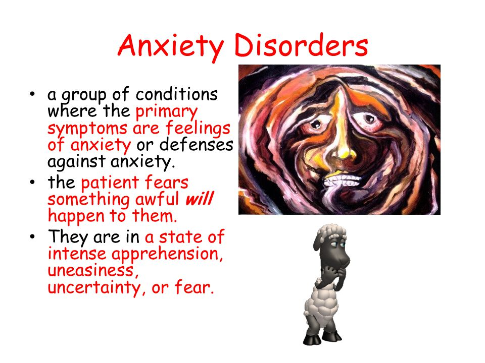 Phobias An intense fear of an object or situation A person experiences sudden episodes of intense dread.