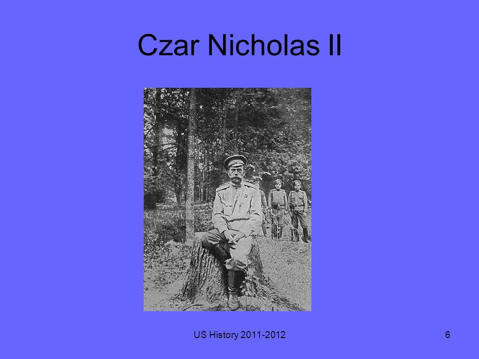 Czar Nicholas II US History 2011-20126