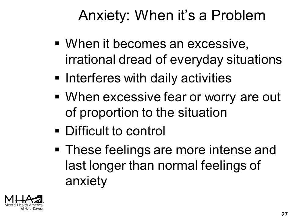 26 Anxiety  It's o.k.