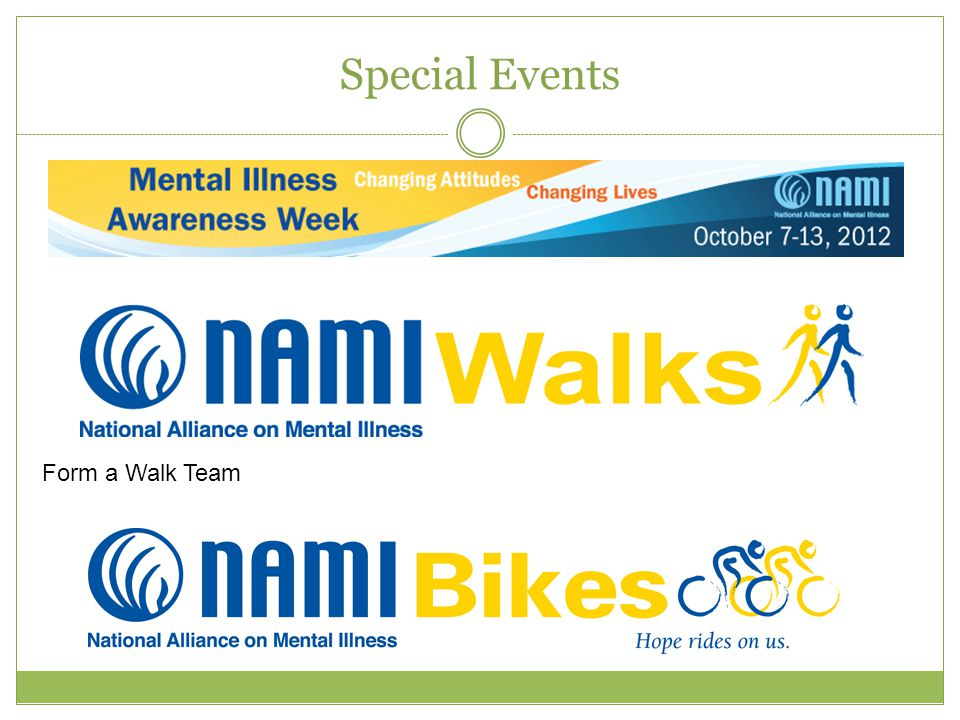Special Events Form a Walk Team
