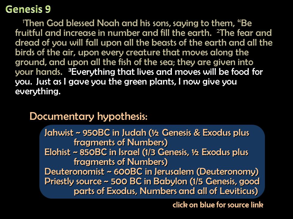 18 The sons of Noah who came out of the ark were Shem, Ham and Japheth.