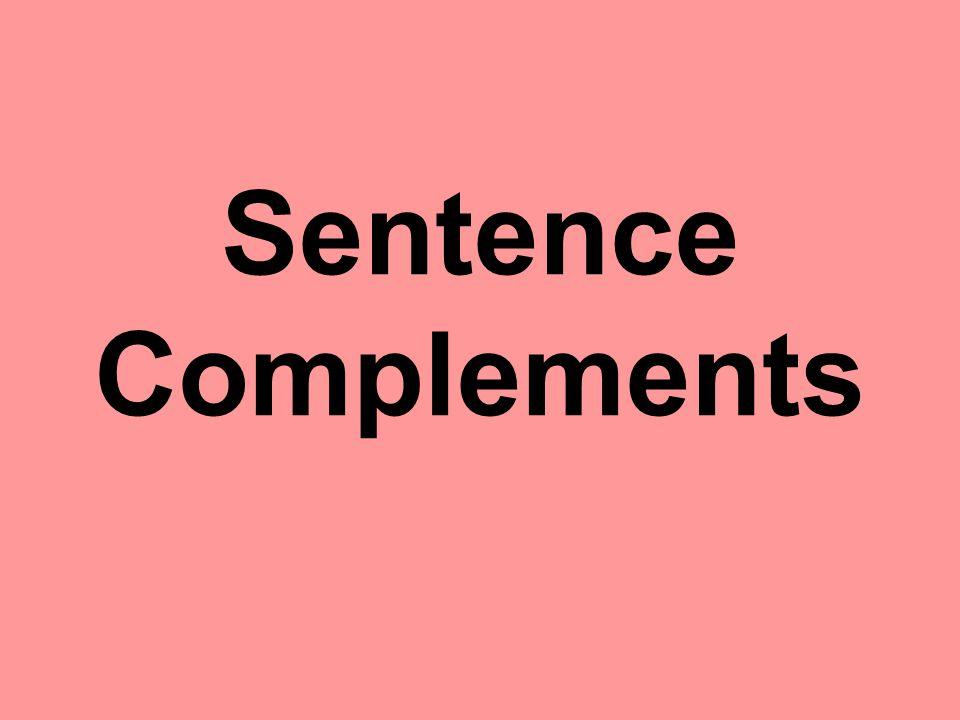 Sentence Complements