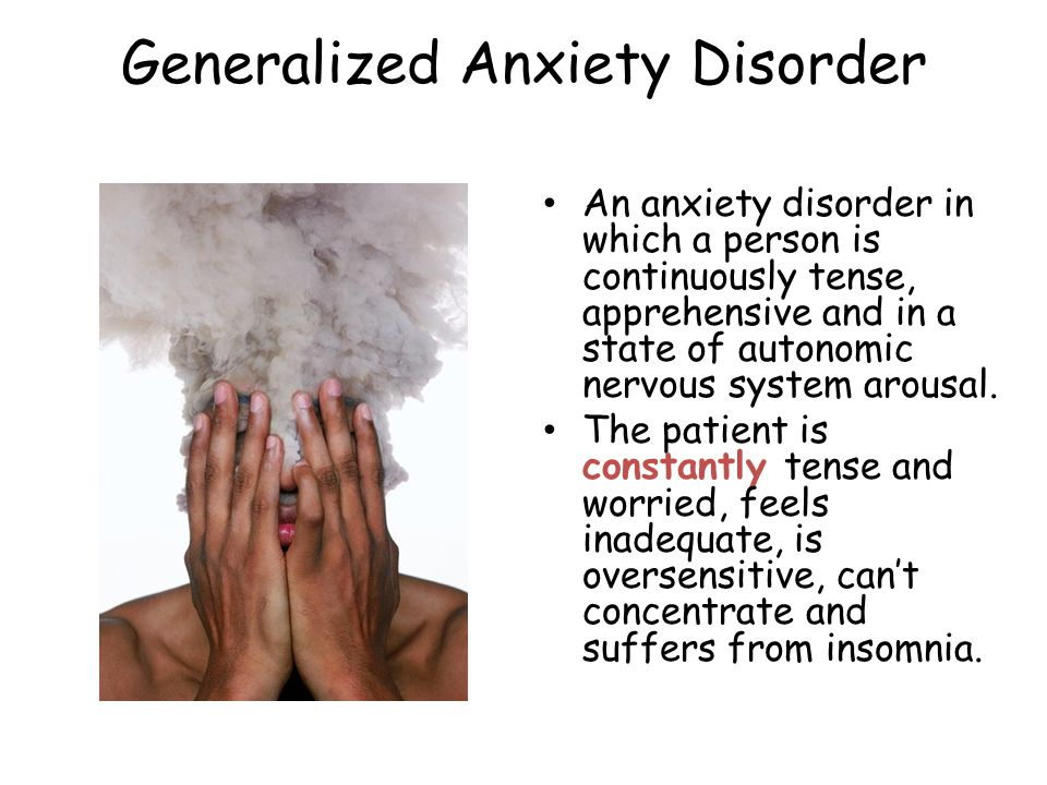 Panic Disorder An anxiety disorder marked by a minutes- long episode of intense dread in which a person experiences terror and accompanying chest pain, choking and other frightening sensations.