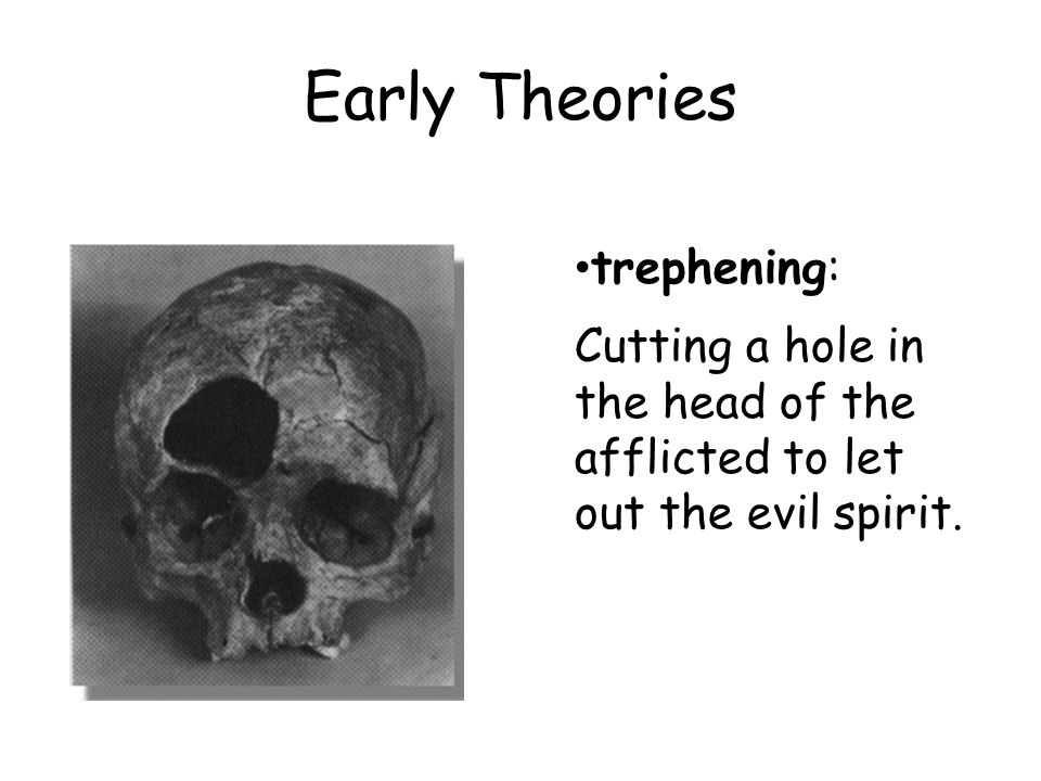 Early Theories Another theory was to make the body extremely uncomfortable