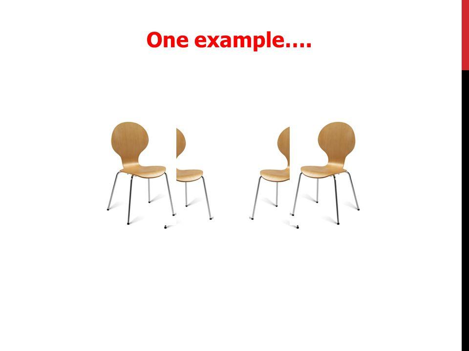 One example….