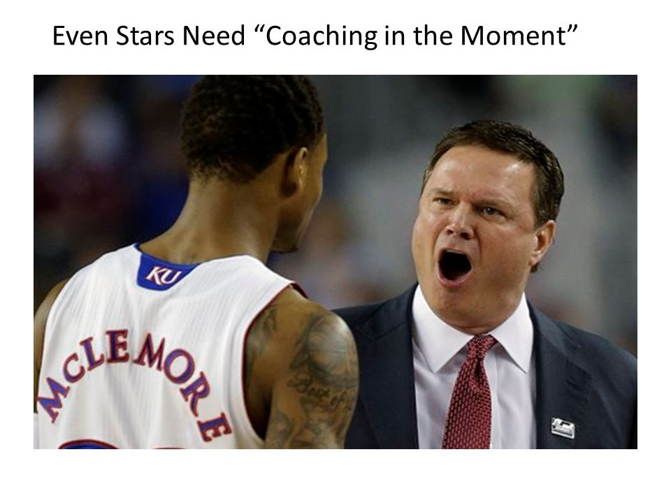 Even Stars Need Coaching in the Moment