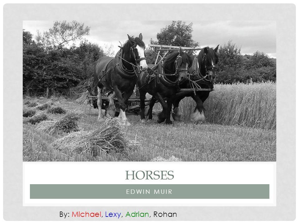 EDWIN MUIR HORSES By: Michael, Lexy, Adrian, Rohan