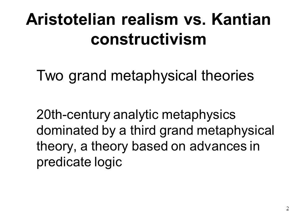 Aristotelian realism vs.