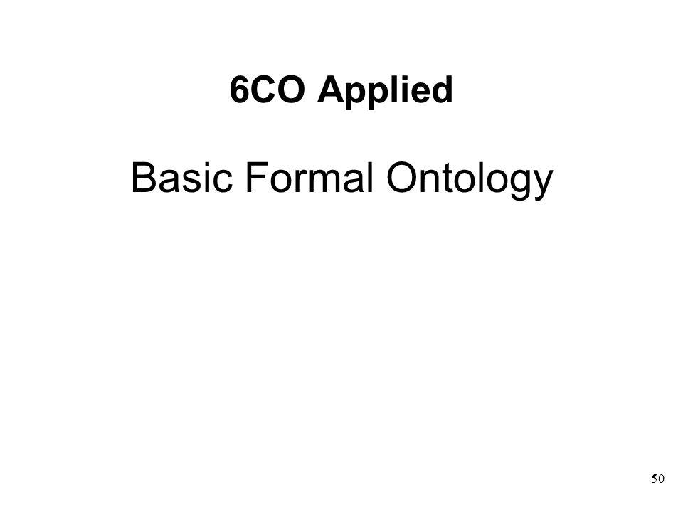6CO Applied Basic Formal Ontology 50