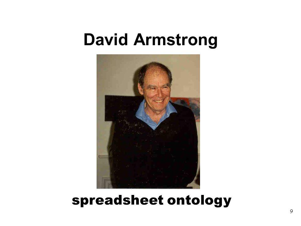 David Armstrong 9 spreadsheet ontology