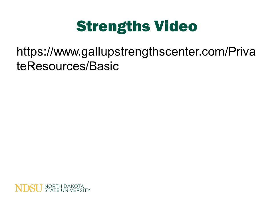 https://www.gallupstrengthscenter.com/Priva teResources/Basic Strengths Video