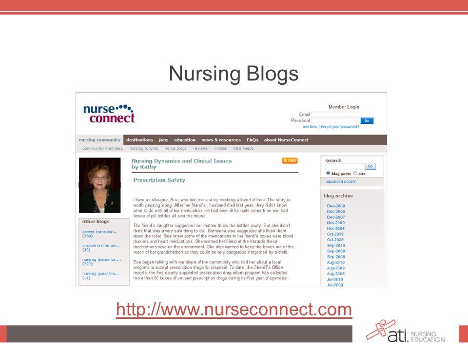 Nursing Blogs http://www.nurseconnect.com