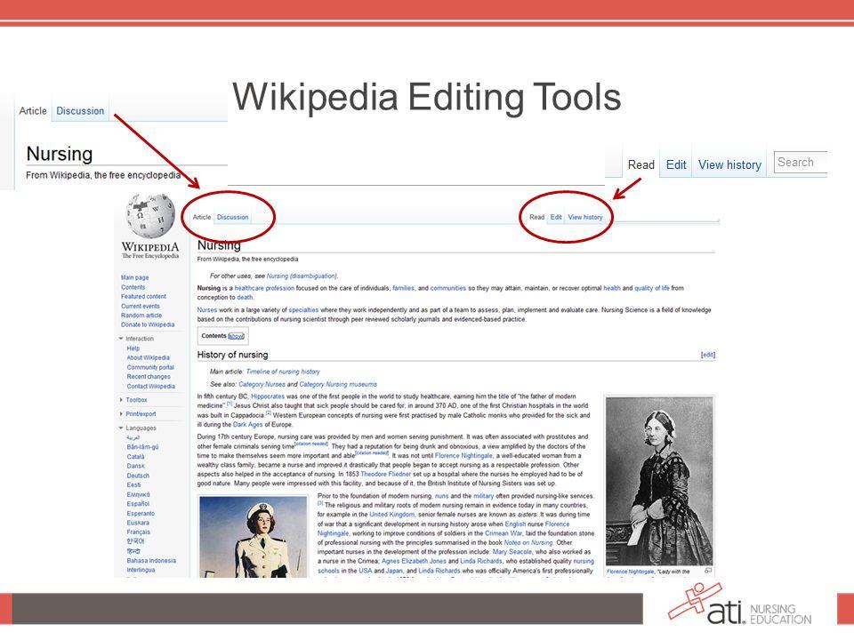 Wikipedia Editing Tools