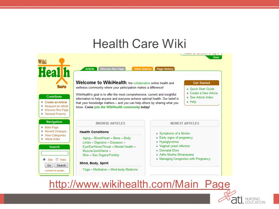 Health Care Wiki http://www.wikihealth.com/Main_Page