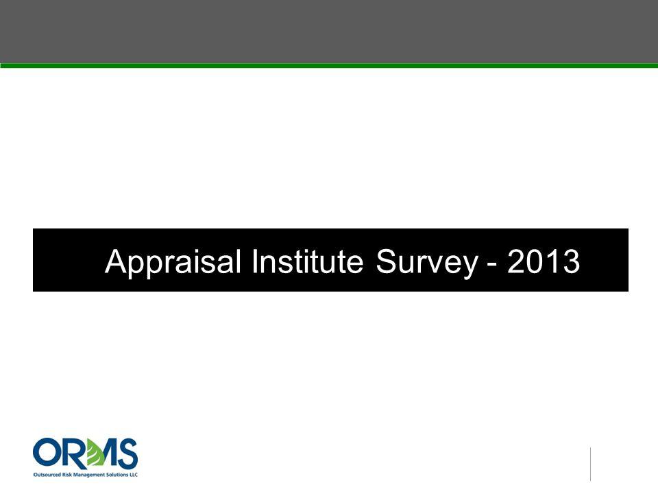 Appraisal Institute Survey - 2013