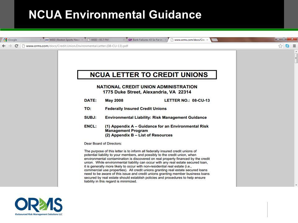 NCUA Environmental Guidance