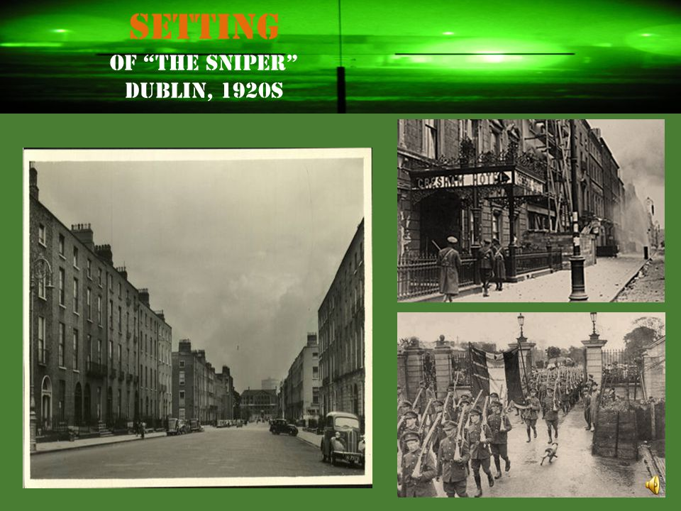 """The Sniper"" Meet the Author: Liam O'Flaherty Liam O'Flaherty (1896-1984) was born to a large, poor family on Inishmore, one of Ireland's rocky Aran I"