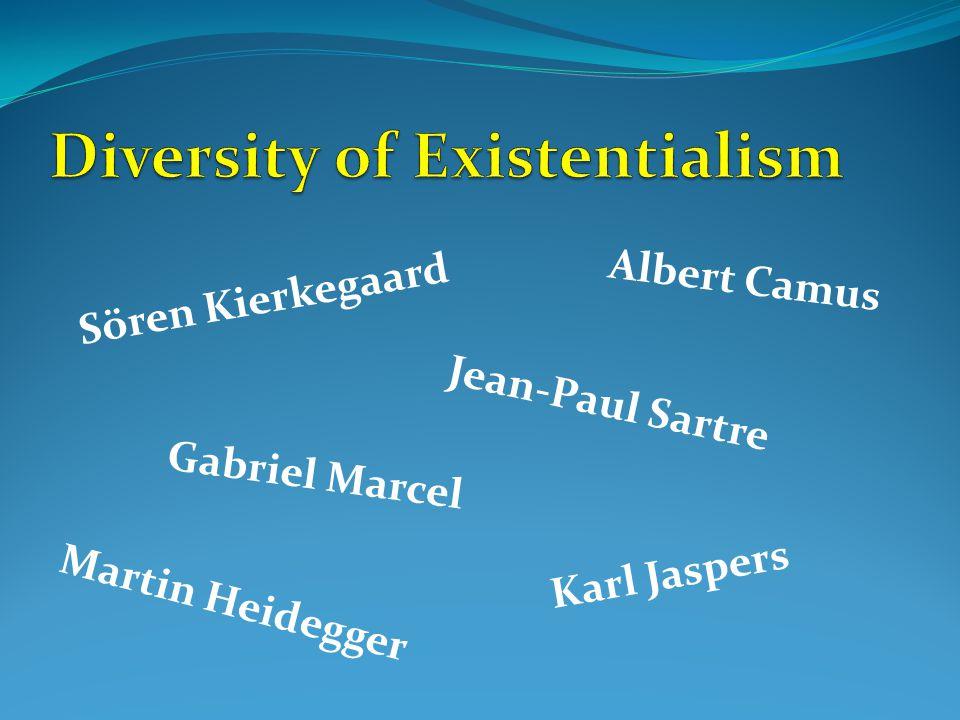 Sören Kierkegaard Gabriel Marcel Karl Jaspers Martin Heidegger Jean-Paul Sartre Albert Camus