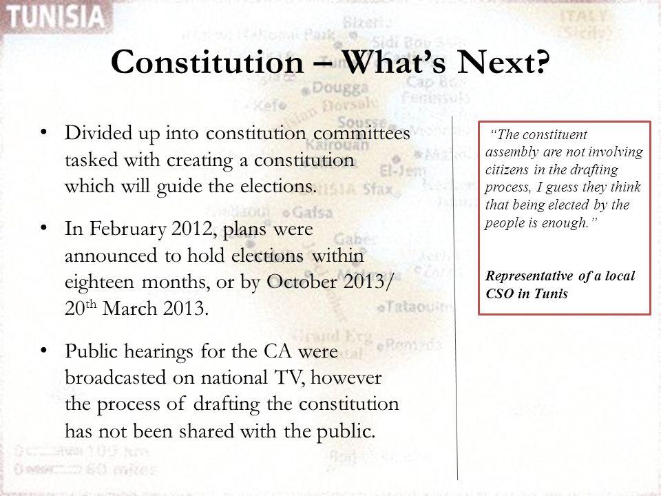 Constitution – What's Next.