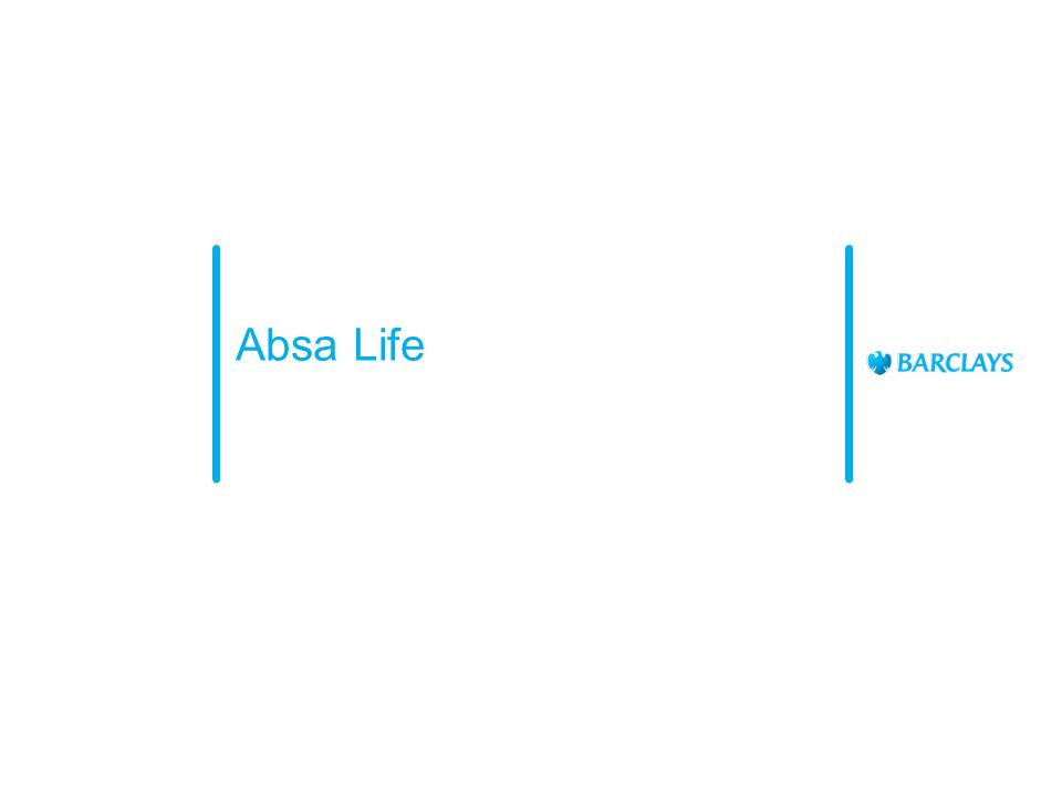 Branch Their main role is to entrench the agreed AFS Bancassurance strategy and to enable the sales teams within the retail branches to provide life cover as part of client solutioning into the Absa customer base.