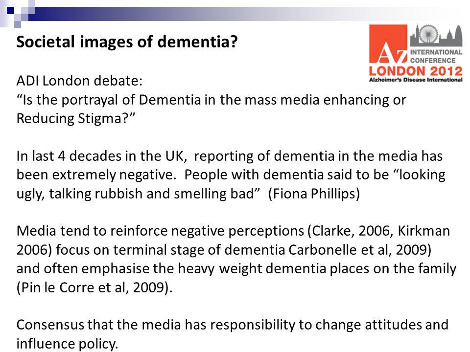 Societal images of dementia.