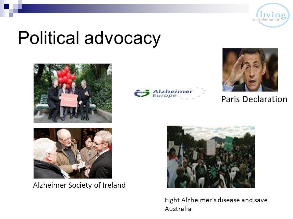 Political advocacy Alzheimer Society of Ireland Fight Alzheimer's disease and save Australia Paris Declaration