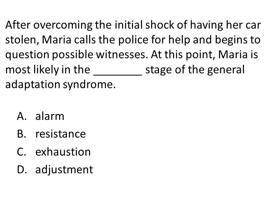 After overcoming the initial shock of having her car stolen, Maria calls the police for help and begins to question possible witnesses. At this point,