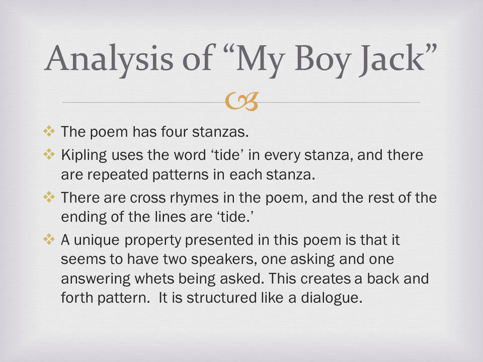   The poem has four stanzas.