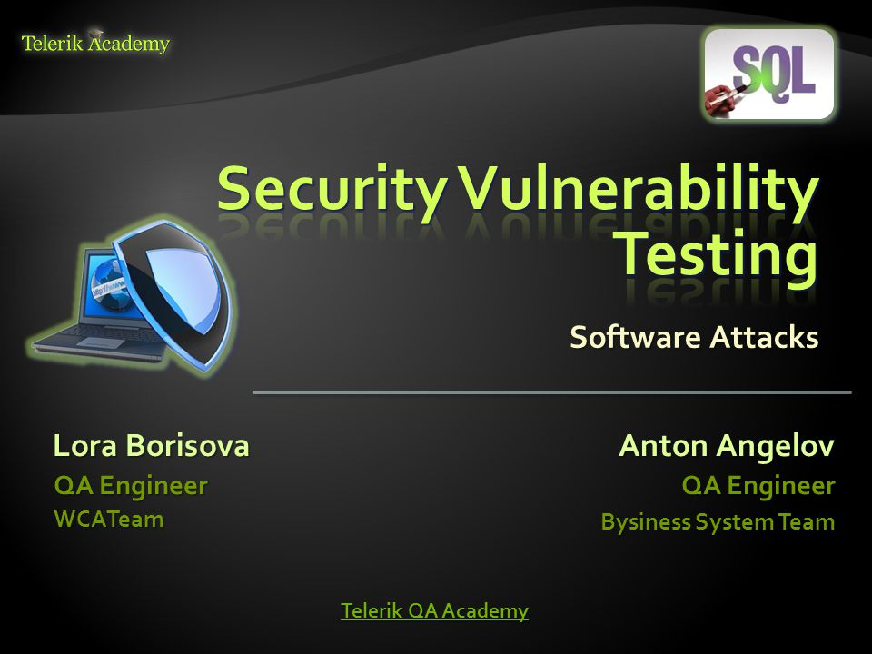  Security Vulnerability Testing – Main Concepts  Characteristics of a Secure Software  Threat Modeling  Methods of Security Testing  Popular Software Attacks  Cryptography 2