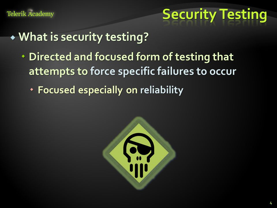  All applications throw errors every once in a while  Make sure that even in this case your application remains stable 95
