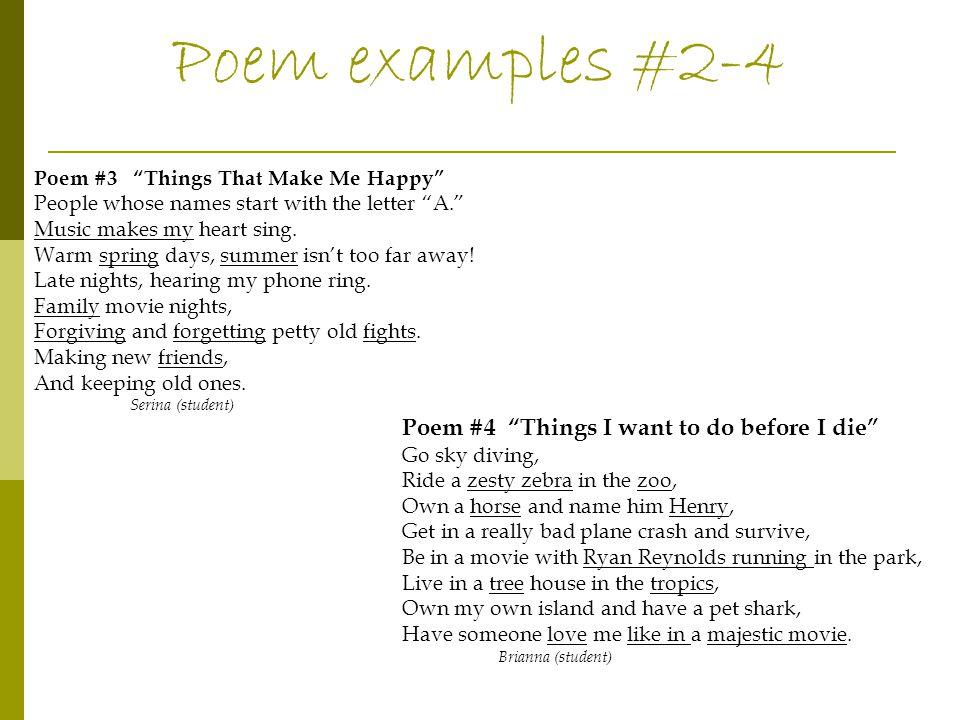 I didn't do my homework because poem
