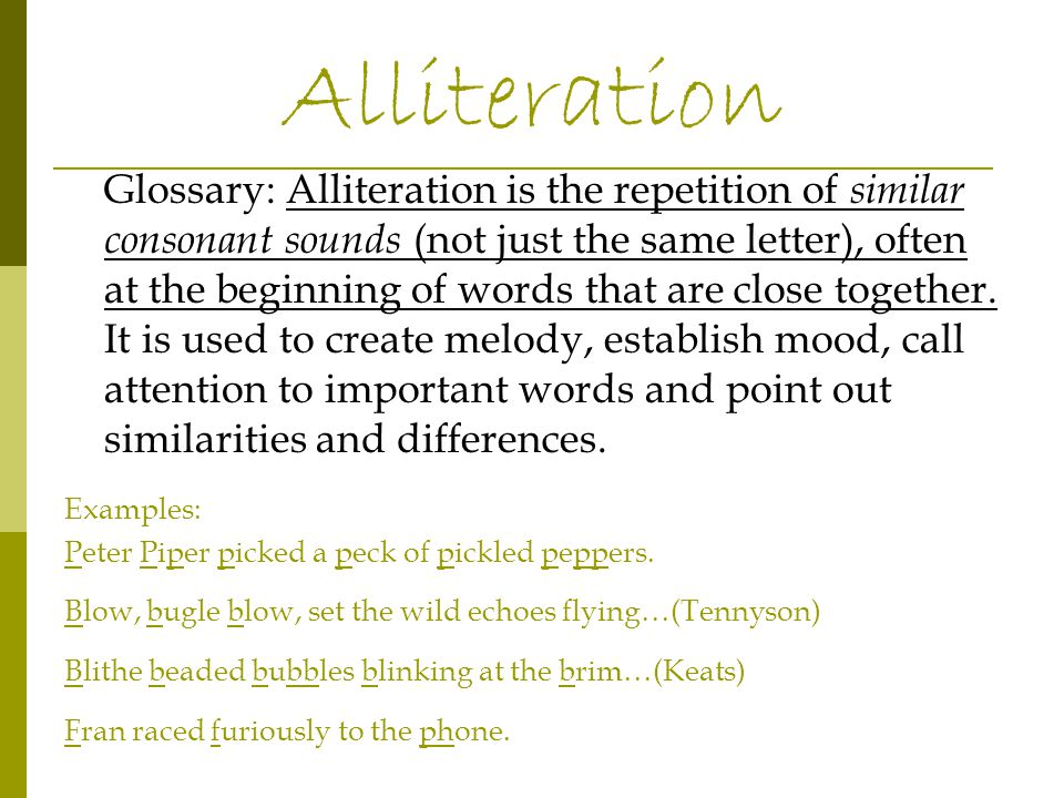 Glossary: Hyperbole is a technique where exaggeration is used to create a strong effect.