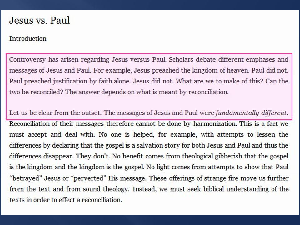 James' response to Paul's gospel