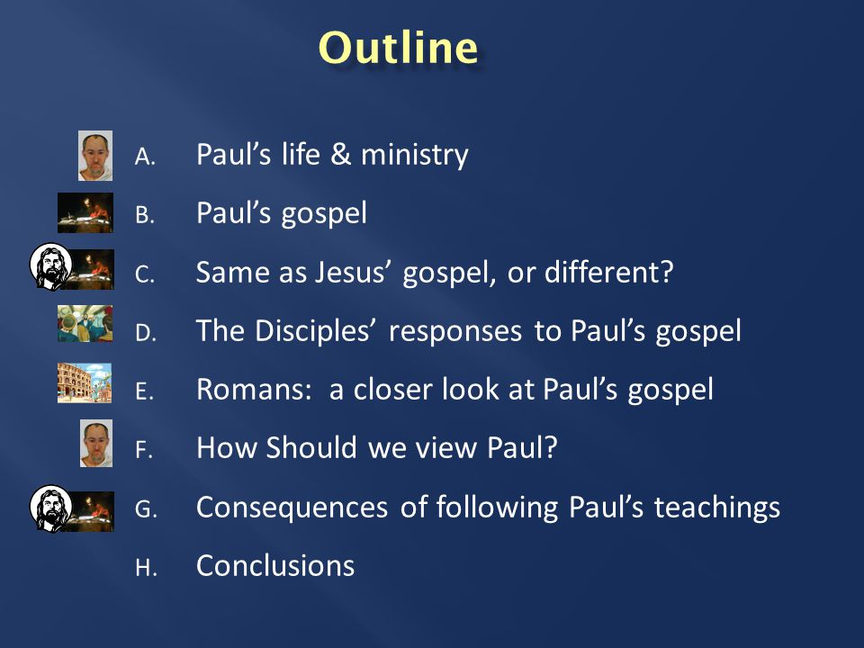 A. Paul's Life & Ministry