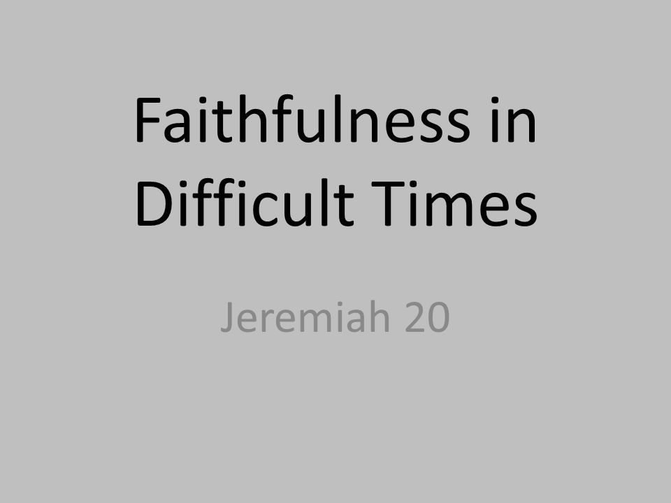 Jeremiah 20:11-13 20:11 – But the LORD is with me as a dread warrior, therefore my persecutors will stumble; they will not overcome me.