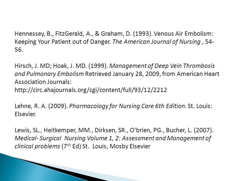 Hennessey, B., FitzGerald, A., & Graham, D. (1993).