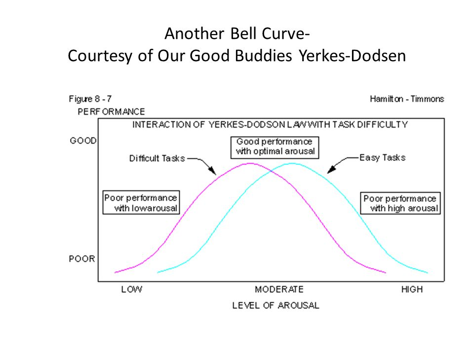 Another Bell Curve- Courtesy of Our Good Buddies Yerkes-Dodsen